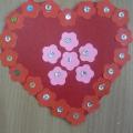 Наши цветочные сердечки— валентинки