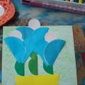 Аппликация из геометрических фигур «Цветы для мамочки»