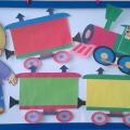 Дидактическая игра «Помоги Торопыжке собрать паровозик»