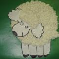 Мастер-класс по аппликации из бумажных салфеток «Белая овечка»