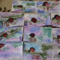 «Снегири». Рисунки детей старшей и подготовительной групп