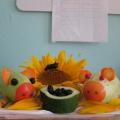 Композиция из овощей и цветов «Поросята-Кабачата»
