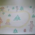 Иллюстрация к русской народной сказке «Колобок»
