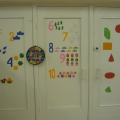 «Математические двери». Оформление детского сада