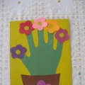Подарок для мамы «Цветочек из ладошки»