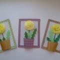Мастер-класс по изготовлению праздничной открытки для мамы «Нежный цветочек»