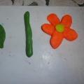 Лепка в средней группе «Корзина цветов для мамы»