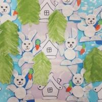 «Ждут зайчишки Новый год». Мастер-класс коллективной работы в технике нетрадиционного рисования и нетрадиционной аппликации