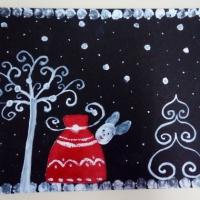 Мастер-класс по рисованию «Новогодняя открытка» с использованием нетрадиционных техник