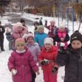 Фотоотчет «Прогулка по первому снегу»