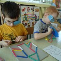 Особенности коррекционной работы с детьми с нарушением зрения в группах компенсирующего вида