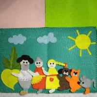 Мастер-класс по шитью книги из фетра по мотивам русской народной сказки «Репка»