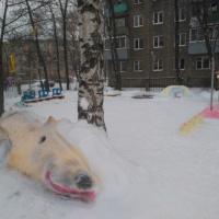 Фотоотчёт о подготовке прогулочного участка «Снежные забавы»