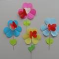 Валентинка «Цветок» из цветной бумаги