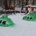 Оформление участка в зимний период «Игры патриотов»