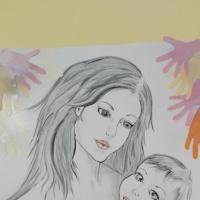 Коллективная работа с детьми к Дню матери