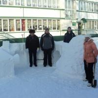 Снежные постройки «Гжель»