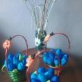 «Корзина с Тюльпанами» (поделка из бросового материала)