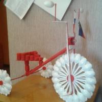Поделка из бросового материала «Трехколесный велосипед»