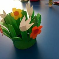 Мастер-класс «Цветы маме!»