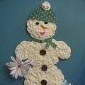 Снеговик из ватных дисков (мастер-класс)