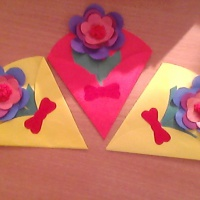 Мастер-класс «Цветок в конверте»