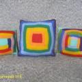 «Моё уютное творчество. Подушка— «думка» в технике «Вязаный пэчворк». Мастер-класс