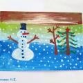 «Зимняя сказка». Выставка детских рисунков к Новому году