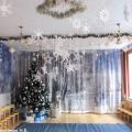 Подготовка к празднику «Рождество Христово». Оформление музыкального зала