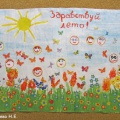 «Здравствуй лето». Коллективное творчество детей (фотоотчёт)