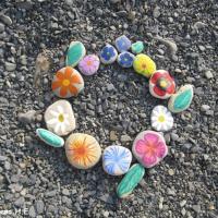 Фотозарисовка «Цветы на камнях»