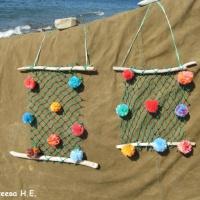 Изготовление элементов для летнего оформления из природного, бросового материала и ниток. «Панно «Лето»