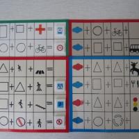 Дидактическая игра «Составь знак из элементов»