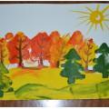 Мастер-класс «Осенний лес». Нетрадиционное рисование губкой