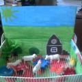 «Домашние животные». Макет для детского сада
