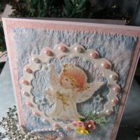 Мастер-класс открытки «С Днём ангела» в технике скрапбукинг