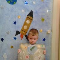 Фотоотчёт о Дне космонавтики в младшей группе «Путешествие в космос»