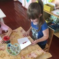 Фотоотчет о занятии по рисованию «Бабочка-красавица»