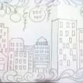 Новогоднее оформление окон детского сада «Снежный городок»