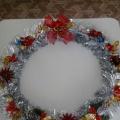 «Рождественский веночек» своими руками.