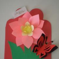 Фотоотчет об изготовлении открытки ко Дню матери «Мамочку поздравим!»