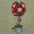 Топиарий из роз. Мастер-класс с пошаговыми фото