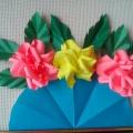 Мастер-класс «Букет для любимой мамы из цветной бумаги»