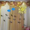 Оформление зала к празднику 8 марта. Фотоотчет
