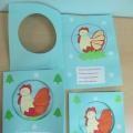 Поздравительная открытка символ года «Петушок». Мастер-класс