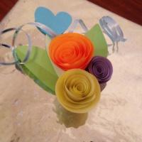 Мастер-класс «Цветочное украшение из цветной бумаги»