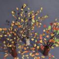 Мастер-класс по изготовлению поделки из природного материала и цветной бумаги «Осенний парк»