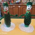 Новогодние сувениры из еловых шишек. Детский мастер-класс