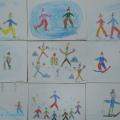 Рисунки детей на тему «Зимние забавы». Фотоотчет детского творчества