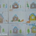 Рисунки детей на тему «Зимняя избушка». Фотоотчет